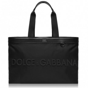 DOLCE AND GABBANA LOGO 黑色手提袋