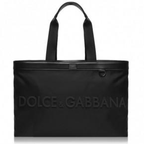 DOLCE AND GABBANA LOGO 黑色手提袋