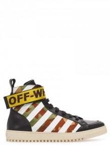 OFF WHITE 迷彩直條運動鞋