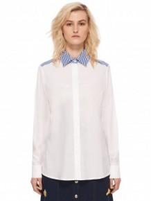 ETRE CECILE 藍領白色襯衫