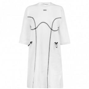 OFF WHITE T恤式連衣裙