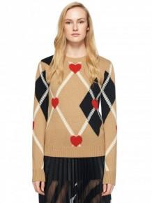 MSGM心形圖案針織長袖衫