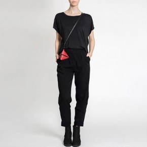 立體三角形皮革斜背袋