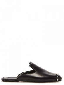 Alexander Wang 黑色金屬條穆勒鞋