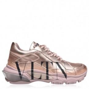 VALENTINO 玫瑰金VLTN Bounce運動鞋