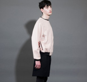 Pink Textured Sweatshirt 粉紅色打孔上衣