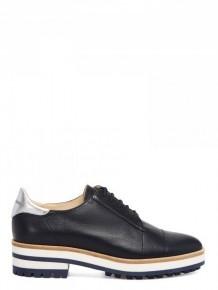 Jil Sander Navy 黑色皮革厚底鞋