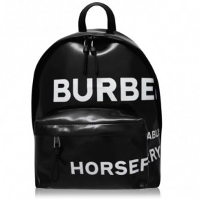 BURBERRY Horseferry 黑色印花背包