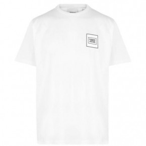 BURBERRY 白色logo Tee