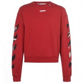 OFF WHITE 紅色Caravaggio箭頭套頭衫