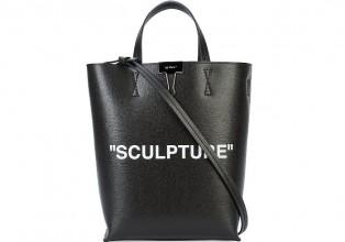 Off White Sculpture 黑色皮革手提包