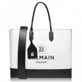 Balmain 黑白印花皮革購物袋