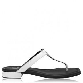 BALMAIN Logo細節銀色涼鞋