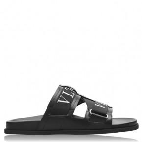 Valentino VLTN 黑色平底涼鞋