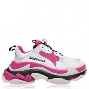 BALENCIAGA Triple S 粉色運動鞋