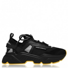 Dolce and Gabbana黑色絨皮運動鞋