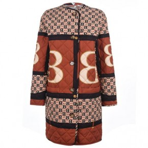 BURBERRY 典藏圍巾印花菱形絎縫大衣
