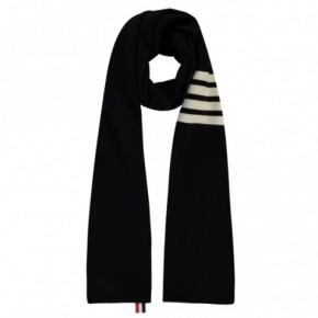 THOM BROWNE 經典黑色針織頸巾