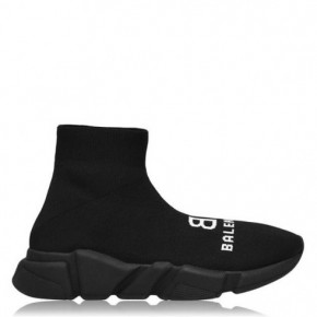 BALENCIAGA黑色Speed high top Sneakers