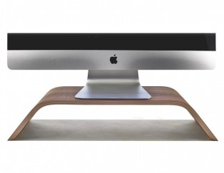 Wood Apple monitor stand 木製螢幕架