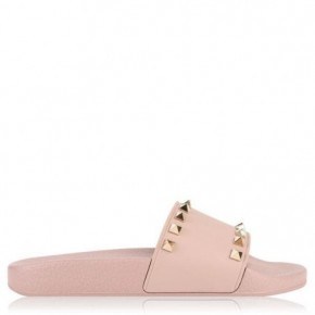 VALENTINO 粉紅色Rockstud泳池拖鞋