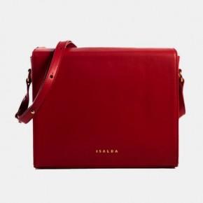 BAU HandBag紅色皮革手袋