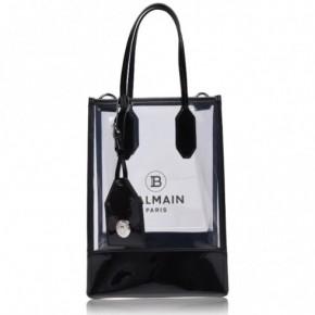 BALMAIN logo印花塑料感小號托特包