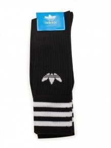 ADIDAS ORIGINALS 黑色LOGO襪子