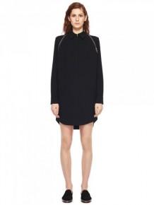 Alexander Wang 黑色拉鍊飾邊襯衫裙