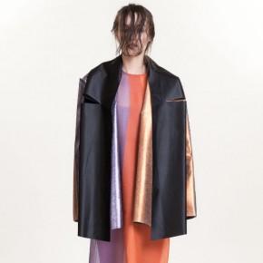 金屬銀銅黑色皮革外套