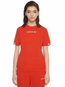 ADIDAS ORIGINALS 紅色 logo T-shirt