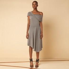 菱格蝴蝶結設計中長裙款