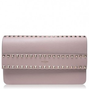 Valentino 粉紅Rockstud單肩包