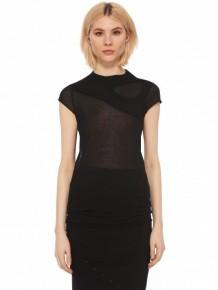 Rick Owens 黑色長款T-shirt連衣裙