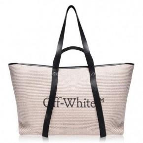 OFF WHITE Commercial logo印花手提包