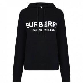 BURBERRY 黑色LOGO HOODED長袖