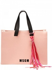 MSGM粉紅色手提袋