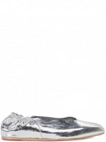 Rick Owens 銀色芭蕾舞平底鞋