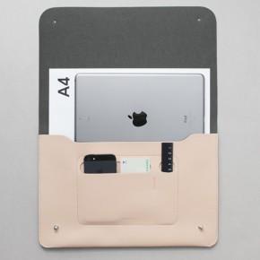 韓國設計五色皮革中碼文件夾