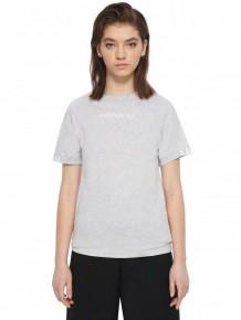 ADIDAS ORIGINALS 灰色 logo T-shirt