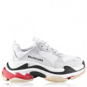 BALENCIAGA Triple S 紅白拼色運動鞋