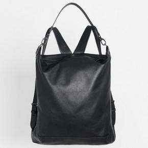 Garnet黑色皮革背包