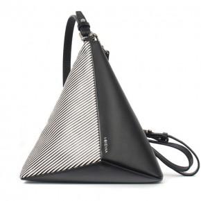 MeK黑白直條紋三角袋