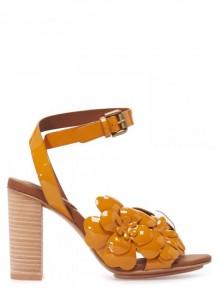 SEE BY CHLOE花朵皮革高跟涼鞋