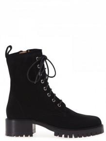Barbara Bui 黑色系带高跟短靴