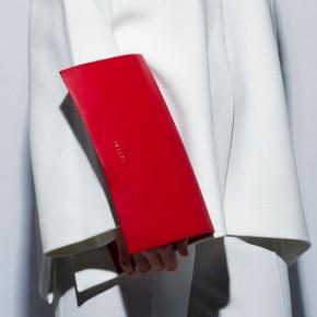 JUN Wallet紅色皮革錢包