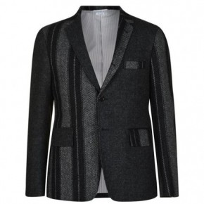 THOM BROWNE FUM MIX 多色條紋拼接西装夹克