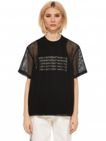 Alexander Wang Logo網紗T-shirt